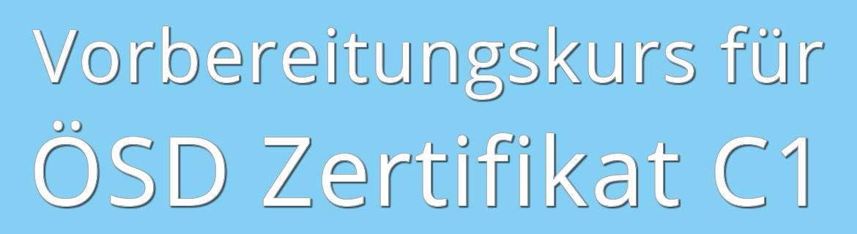 ösd Zertifikat C1